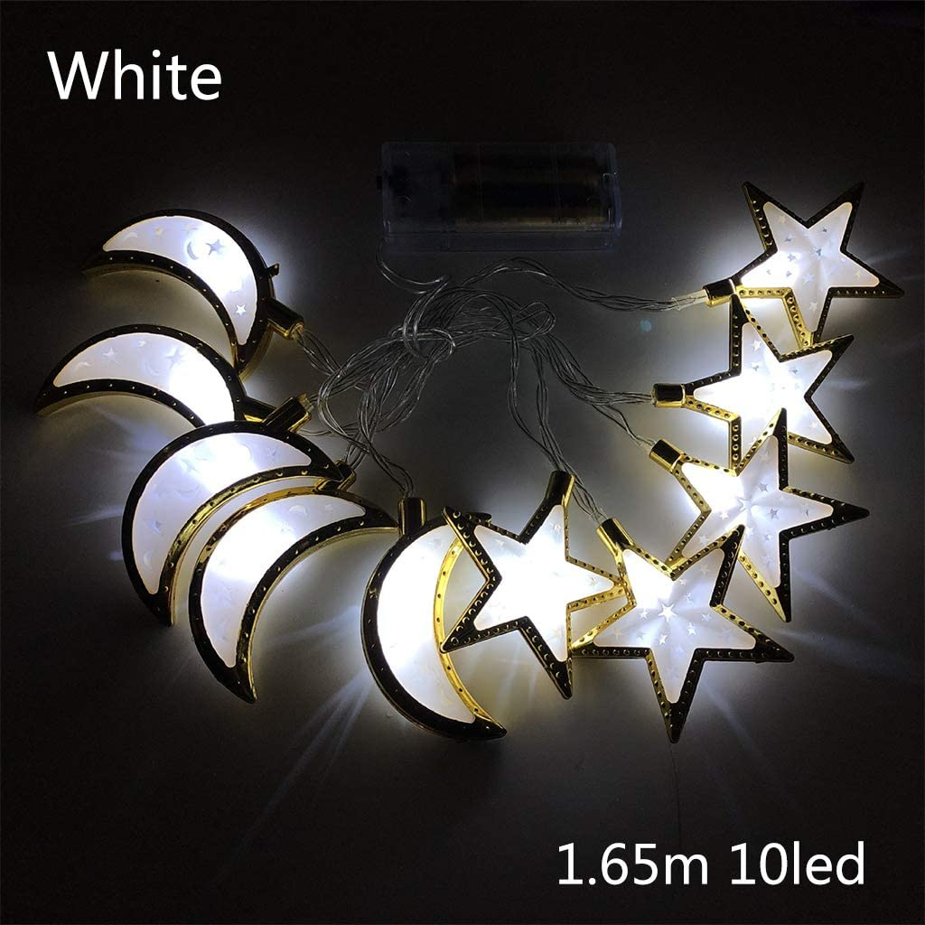 minansostey Ramadan and Eid Decor Lights LED Star Moon Lights Home Festival Party Festival
