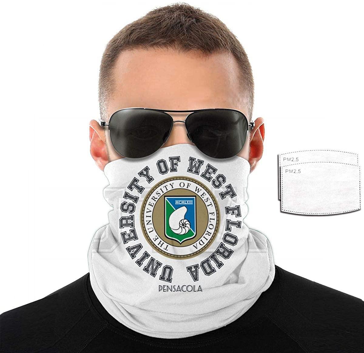 University of West Florida Fashion Neck Warmer Windproof Bandana & Face Scarf & Neck Warmer Gaiter Shield