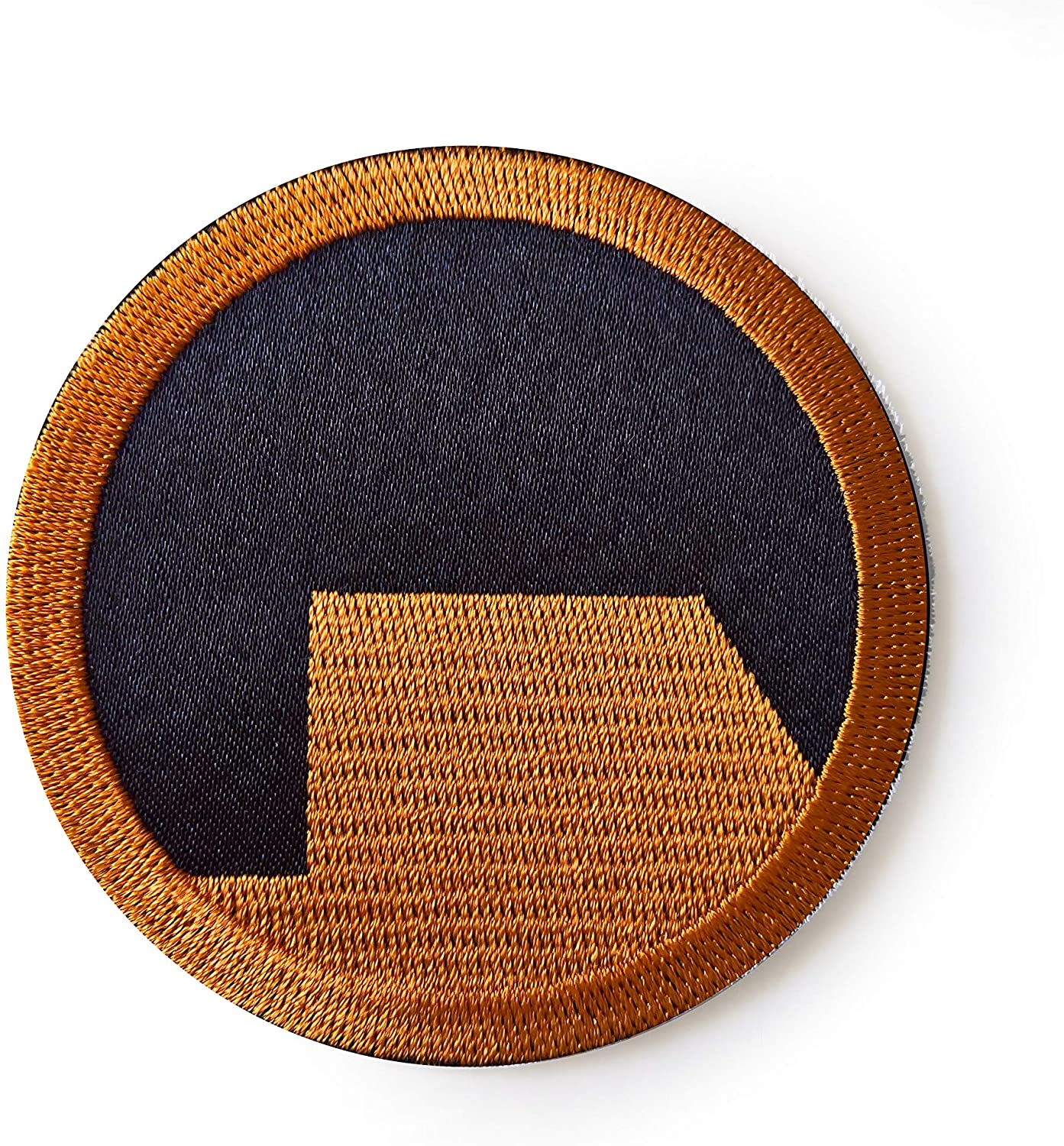 Black Mesa Patch Sew on Orange Patch Half Life Inspired Patch Gordon Freeman