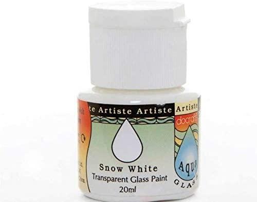 Glass Color 20ml Aquaglass - Snow White, Docrafts, Colors, Hobby Colors, Decoupage