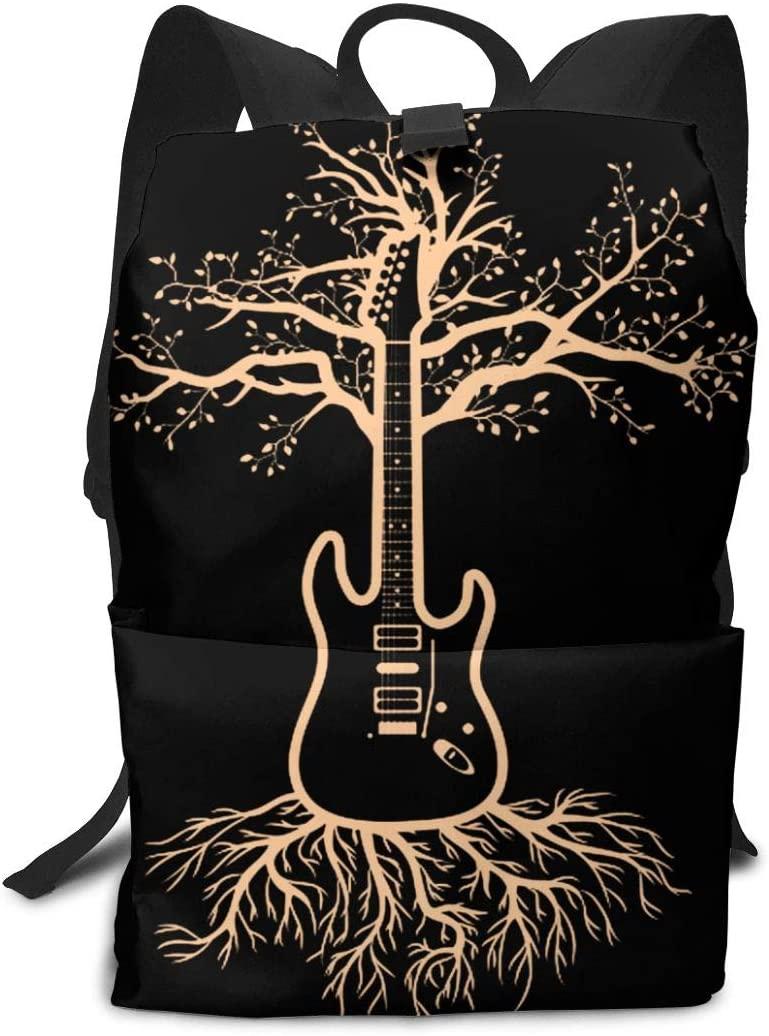 KLQ Guitar Tree. Travel Backpack Business Daypack Shoulders Bag Computer Rucksack