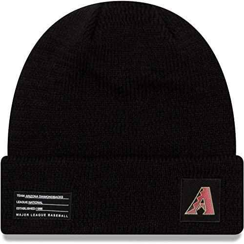 New Era Arizona Diamondbacks Beanie MLB 2018-19 On Field Sport Knit Cap Black Adult One Size