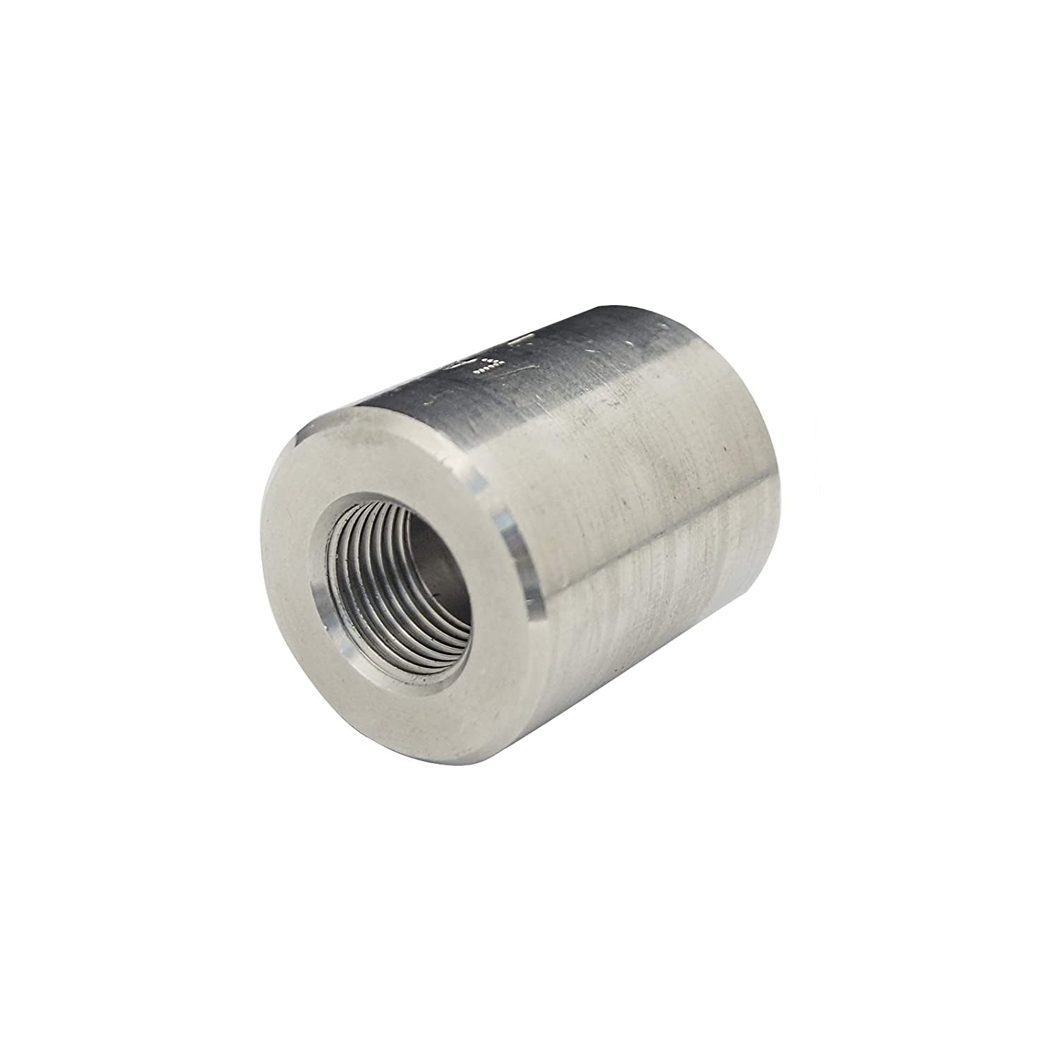 Stainless Steel 316 Forged Pipe Fitting, Reduced Full Coupling, 1 1/2