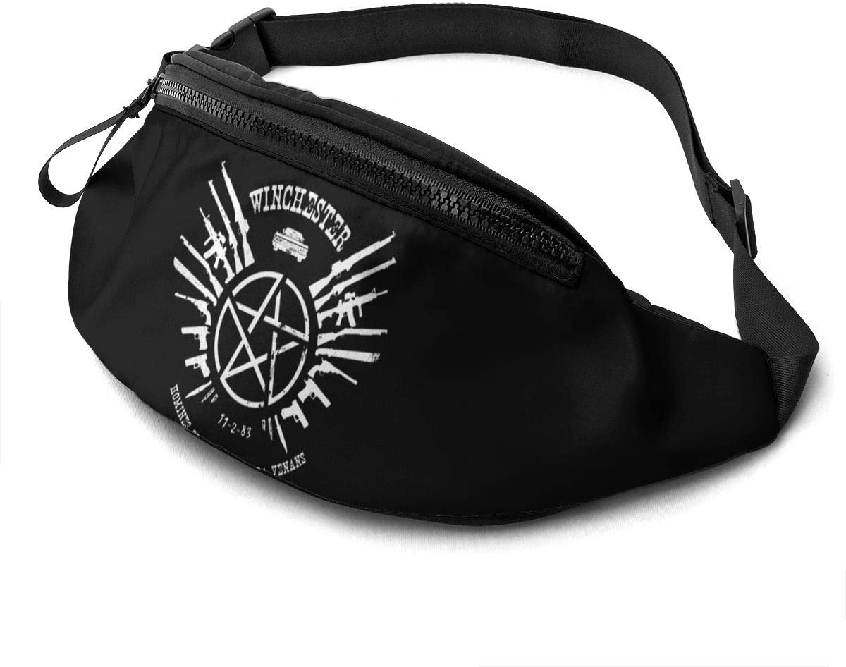 Qwertyi Winchester Not Limited to Men and Women Running Waist Packs Casual Waist Bag