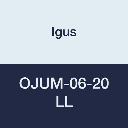 Igus OJUM-06-20 LL DryLin R Standard Long Design Linear Bearing Open Floating Pillow Block, Engineered Polymer, 60 mm Length