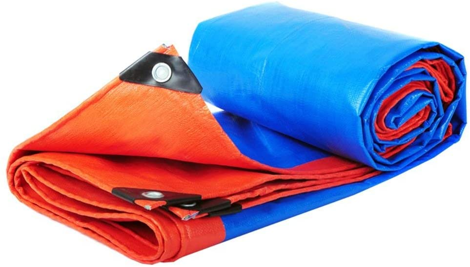 SJY Waterproof Cover Ground Sheet Covers Waterproof Tarpaulin Double-Sided Color for Outdoor 200G/M²,Thickness 0.35Mm for Camping Outdoor Travel,3Mx4M