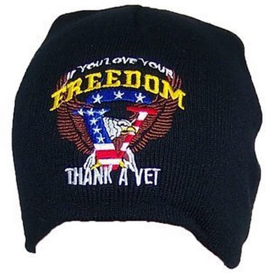 KYS Military Officially Licensed Thank a Vet Beanie hat Cap lid
