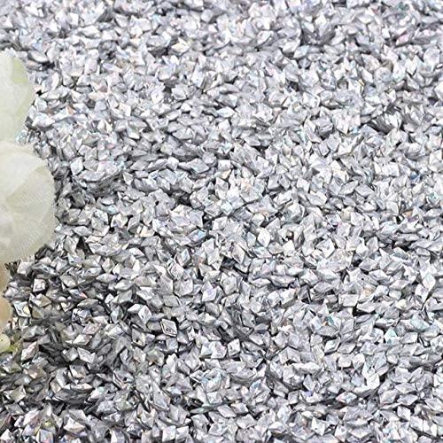 Jienie 10g 20g Diamond Shape Glitter Nail Sequin 3mm PVC 3D Sequins for Girls Nail Art Manicure Wedding Decoration Confetti Lentejuelas - (Color: Laser-Silver, Size: 3mm Diamond 10g)