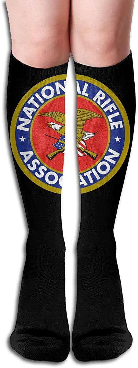 NRA- Gun Long Socks Womens Knee High Stockings Athletic Tube Stockings