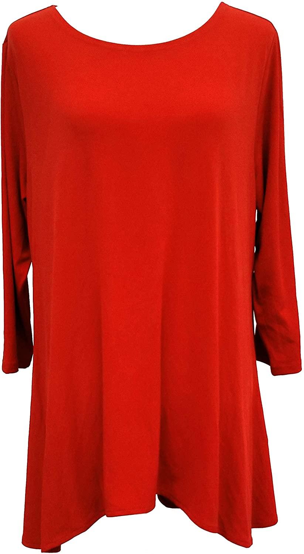 ALFANI Women's Jersey High-low Tunic Shirt Top