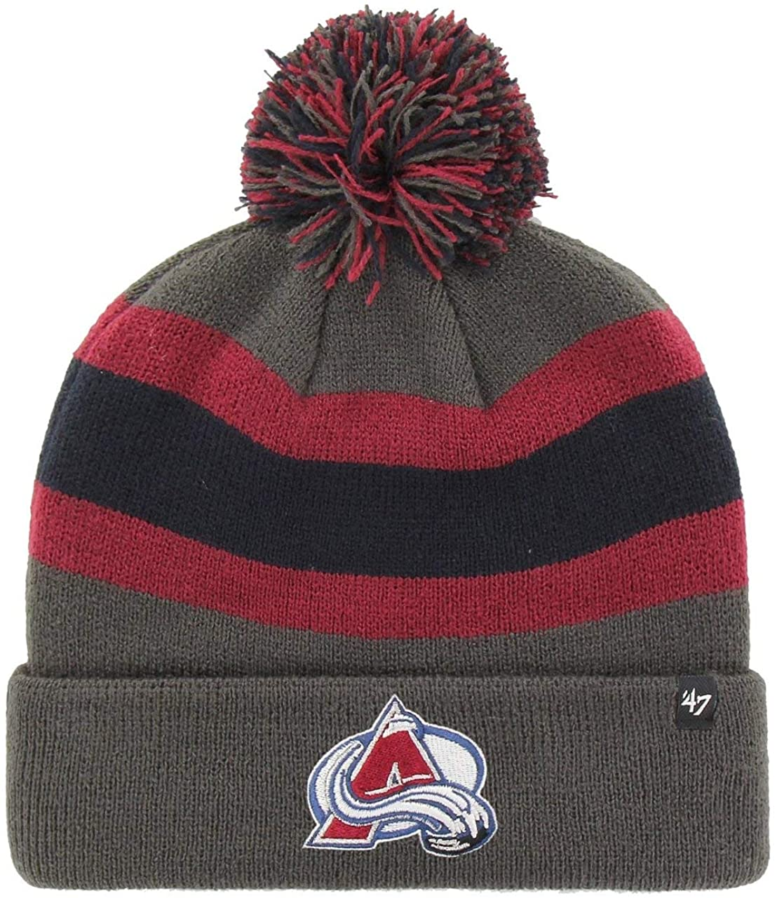 '47 Brand Colorado Avalanche NHL Charcoal Breakaway Cuff Knit Beany Hat One Size Mütze Forty Seven