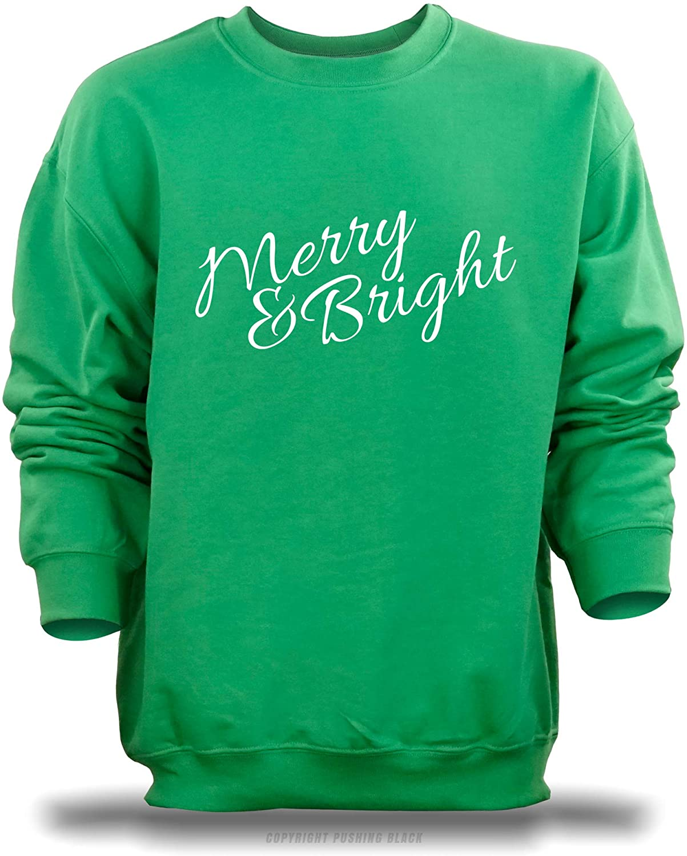 PUSHING BLACK 'Merry & Bright' Unisex Sweatshirt