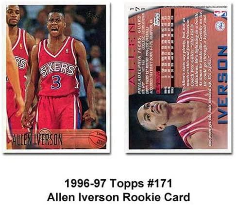 Topps Philadelphia 76ers Allen Iverson 1996-97 Rookie Card