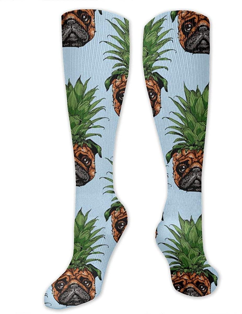 Knee High Socks For Men Women Thailand Pineapple Pug Ananas Yoga Hose Stockings