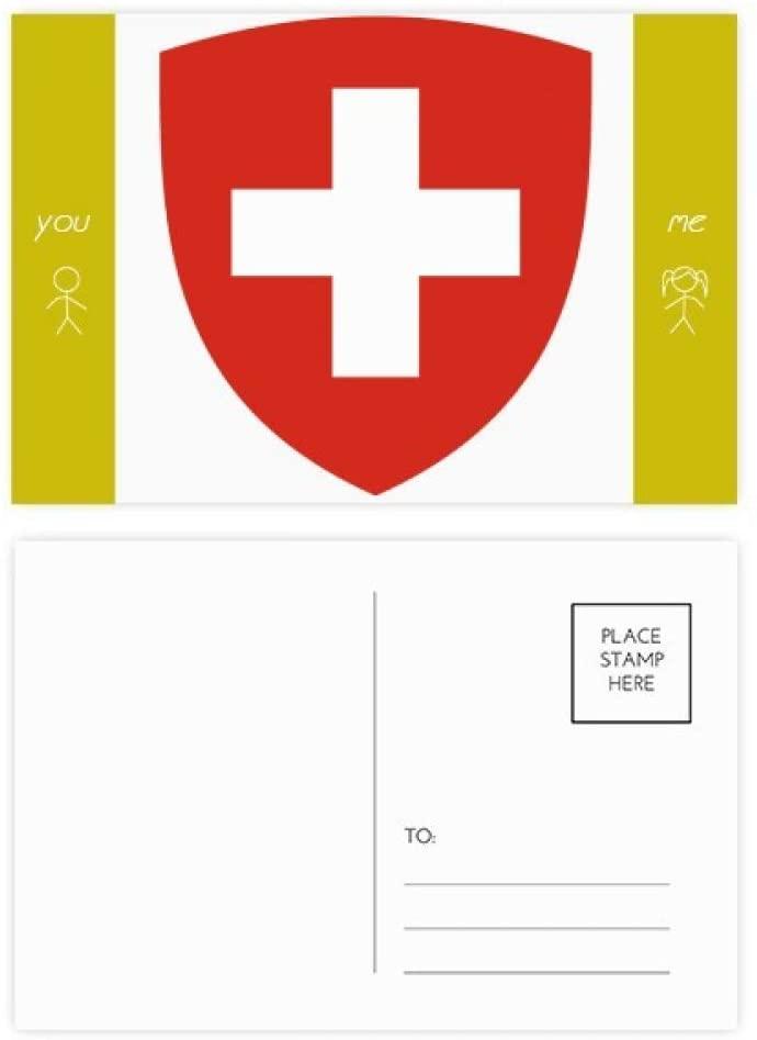 Switzerland Europe National Emblem Friend Postcard Set Thanks Card Mailing Side 20pcs