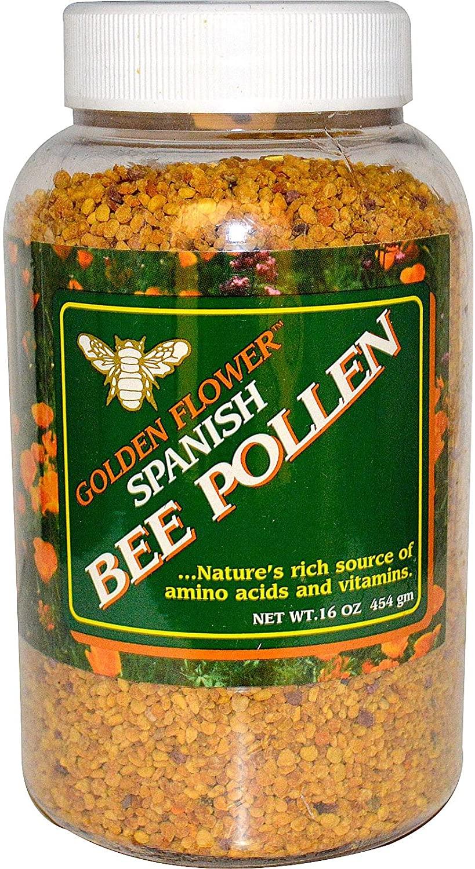 Golden Flower Spanish Bee Pollen, 16 Oz (454 G)