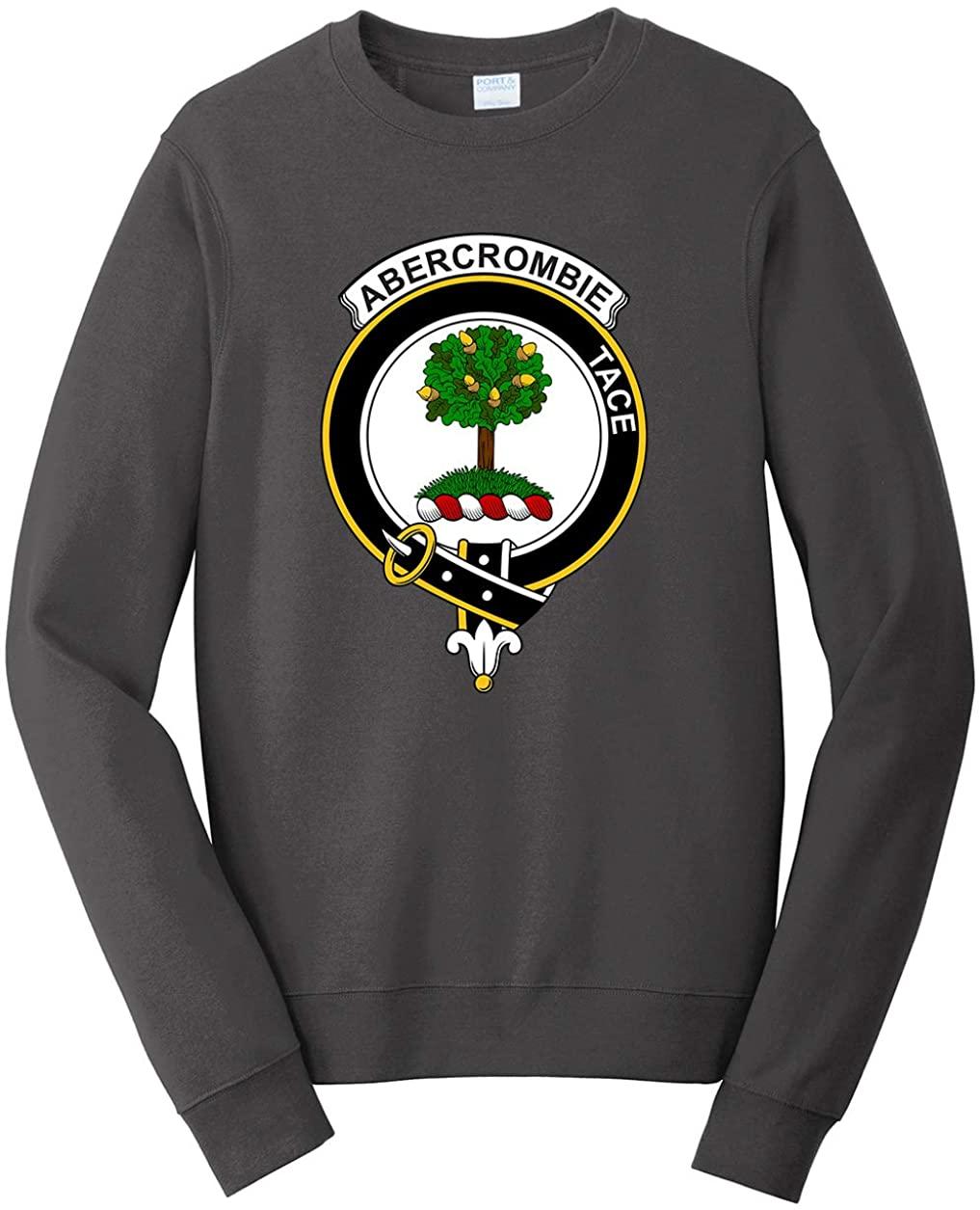Tenacitee Men's Scottish Clan Crest Badge Abercrombie Sweatshirt