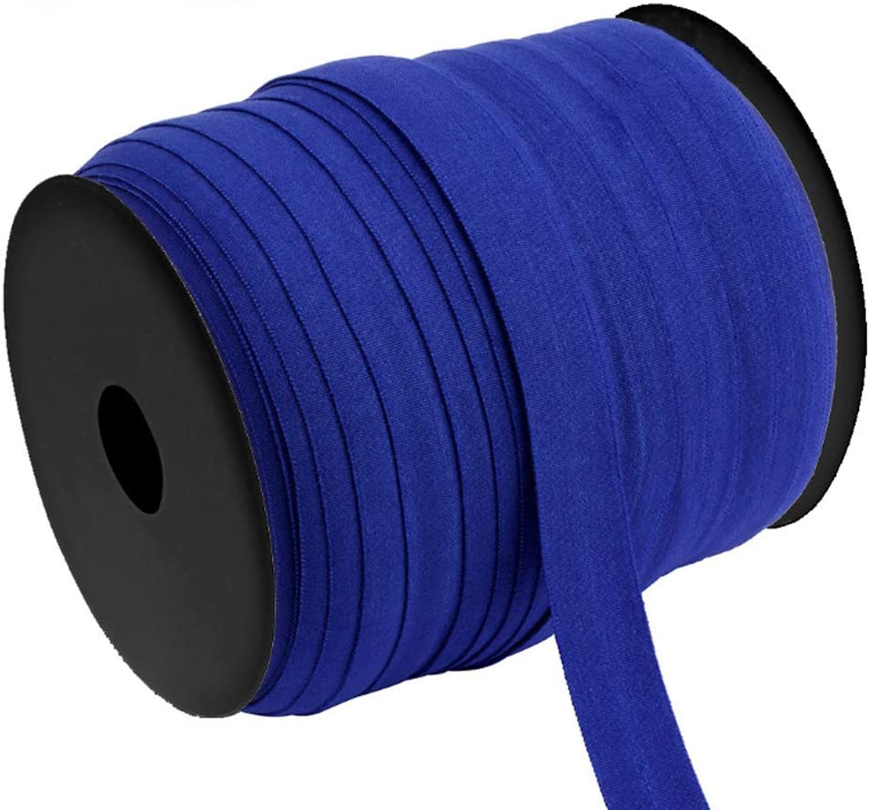 minansostey 100m Elastic Bands 15mm Flat Rubber Stretch Rope Cord for DIY Protective Cap Clothes Garment Sewing Accessories