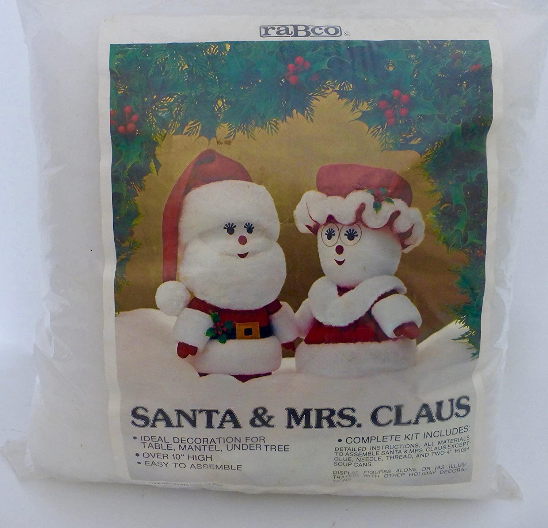Vintage 1978 Holiday Christmas Santa & Mrs. Claus Decoration Kit 10 Tall