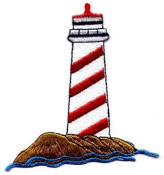 Lighthouse Iron-on Embroidered Patch