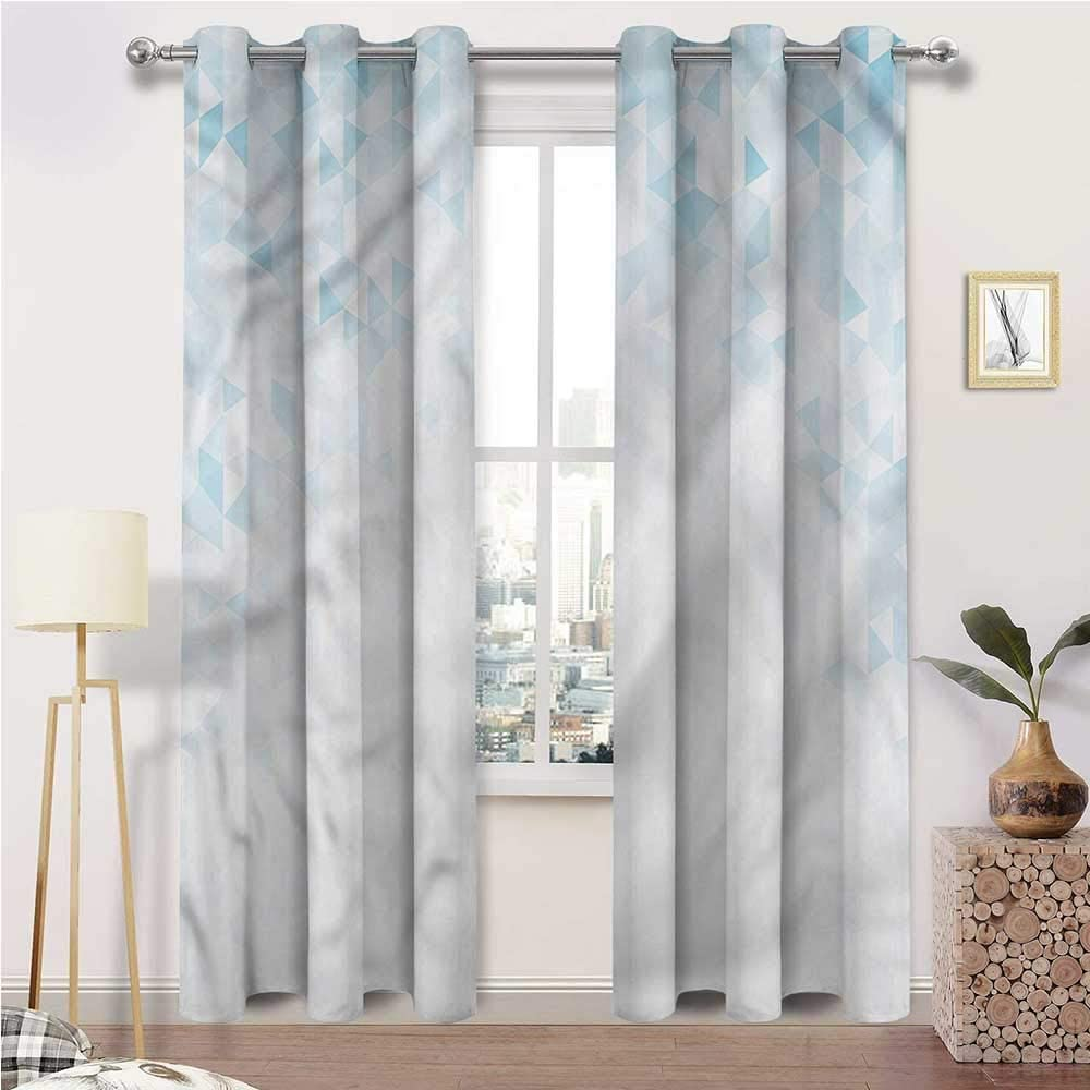 Outdoor Curtains for Patio Waterproof Abstract Indoor/Outdoor UV Protectant Grommet Drapes Fractal Triangle Forms Set of 2 Panels, 108 Width x 108 Length