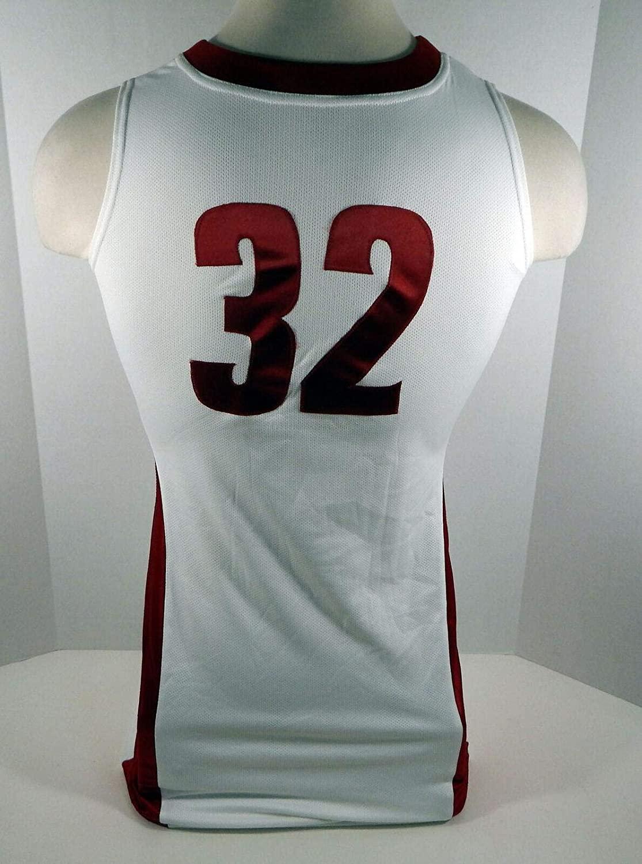 2011-12 Alabama Crimson Tide #32 Game Used White Jersey BAMA00040 - College Game Used