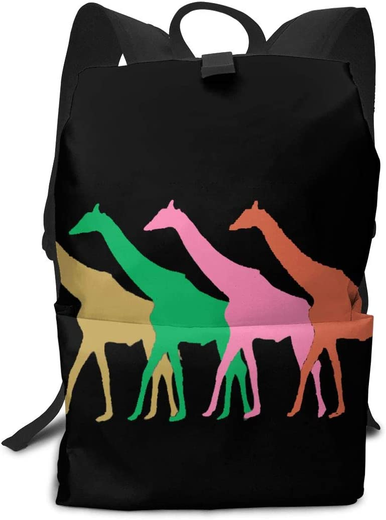 KLQ Vintage Giraffe. Travel Backpack Business Daypack Shoulders Bag Computer Rucksack