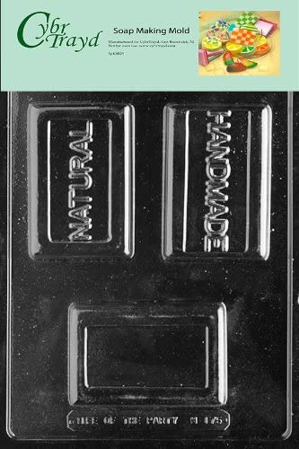 Cybrtrayd Natural/Handmade Bar Soap Mold with Exclusive Cybrtrayd Copyrighted Soap Molding Instructions