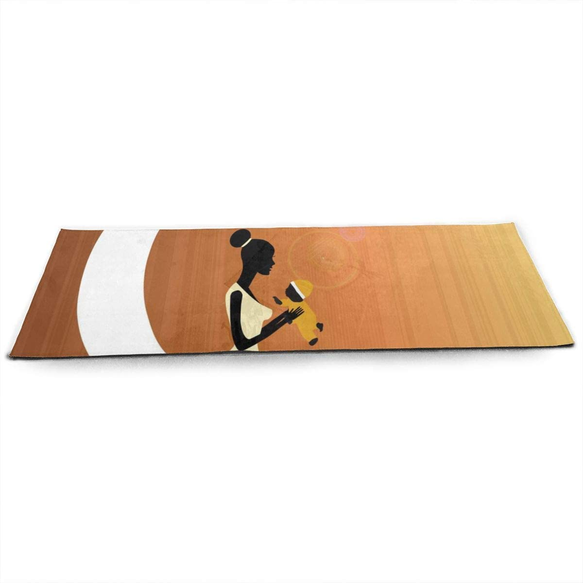 Womens Yoga Mats Bible Covered in Flames, Fire, Cross Non Slip 1/2