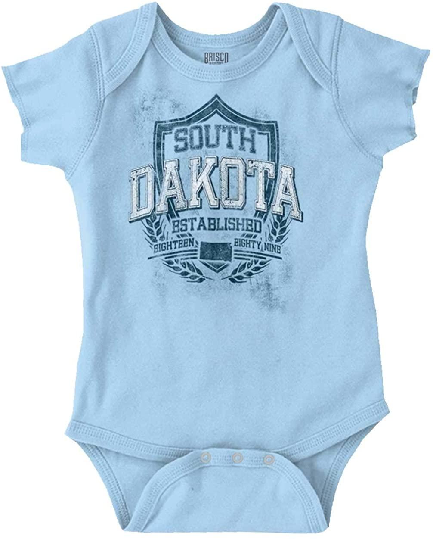 South Dakota State Motto Souvenir Tourist Romper Bodysuit