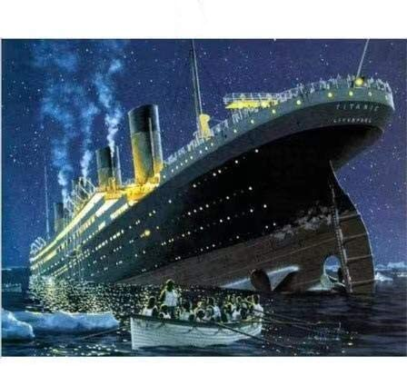 Diamond Painting Kits for Adults 30x40cm Titanic Sinking DIY 5D Diamond Art for Beginner for Wall Decoration