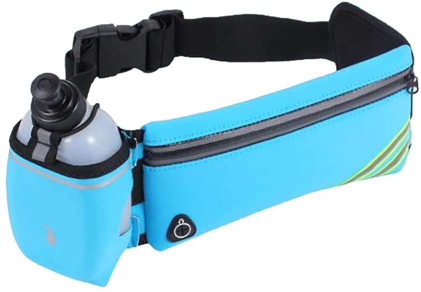 Athletic Running Belt Waist Bag with Water Bottle Holder(SP-14)