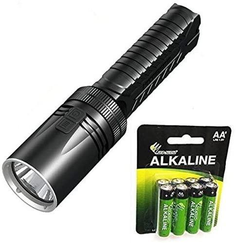 Nitecore EA42 1800 Lumens AA Flashlight/Searchlight - CREE XHP35 HD LED +8x Free AA Batteries