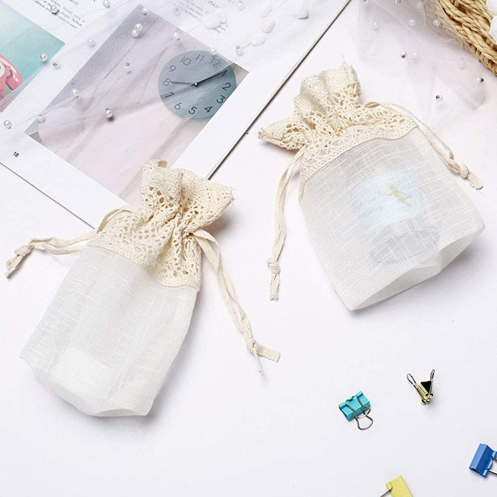 YiCanG Gift Bag -5 Creative Handmade Cotton Dress Exquisite Side Bag, Drawstring Storage Pouch Finishing Jewelry, Christmas Candy Bags -10X14 cm Gift Bags
