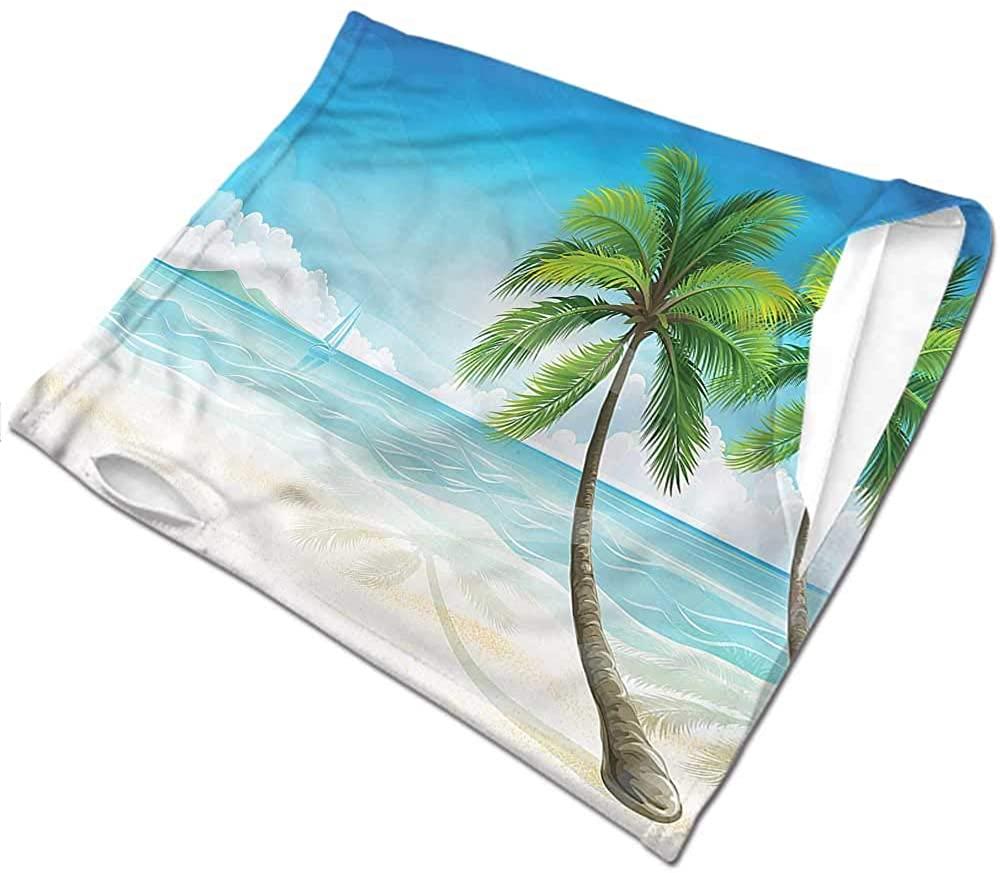 Neck Gaiters for Men Ocean,Palm Trees on The Beaches for Women Men Face Scarf