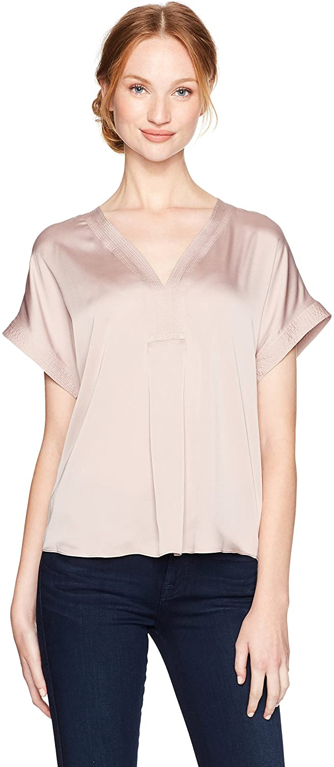 Lucky Brand Women's Draped Shirt in Champagne