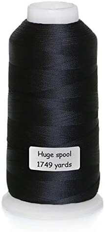 Black Sewing Thread All Purpose for Sewing Machine Heavy-Duty Thread Spools 1749 Yards (1600M) for Hand Sewing and Quilting Serger Sewing – ACRAFT
