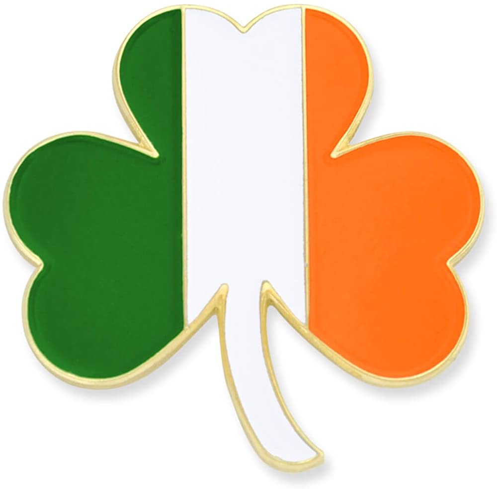 PinMart Irish Flag Shamrock St. Patricks Day Enamel Lapel Pin