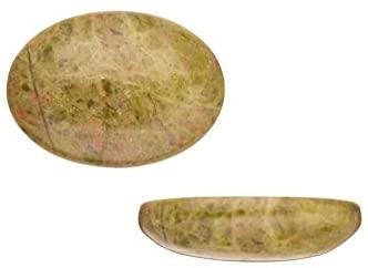 Oval Dome Semi-Precious Cabochon Stones Unakite 18x25mm Beading Supply