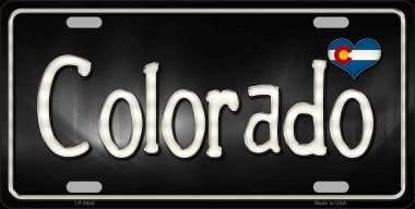 Smart Blonde Colorado Flag Script Novelty Metal License Plate LP-9444