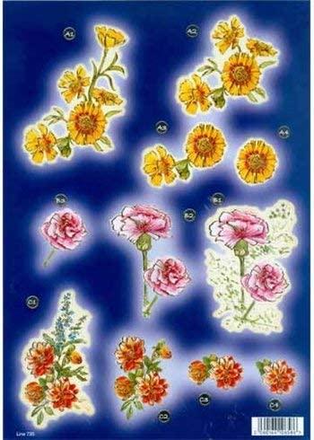 Ecstasy Crafts Craft Uk - Carnation & Dahlia With Gold