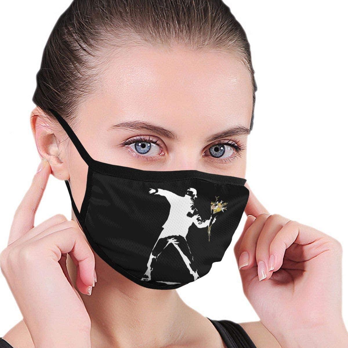 Banksy Flower Thrower Unisex Fashion Face Bandanas Head Band Wears Scarf Face Tube Neck Scarf