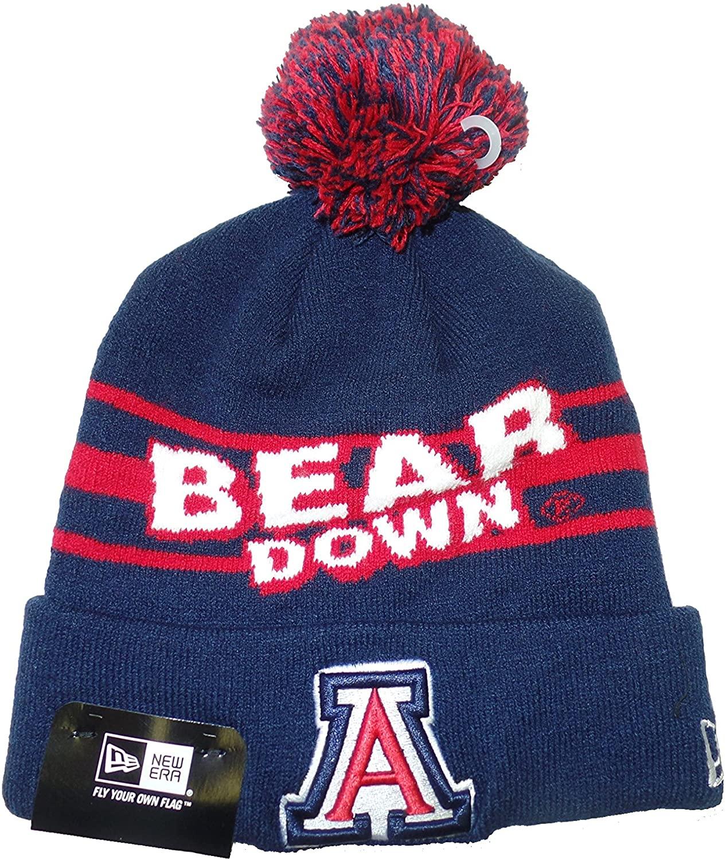 New Era Arizona Wildcats Slogo Mark Cuffed Pom Knit Beanie Hat/Cap