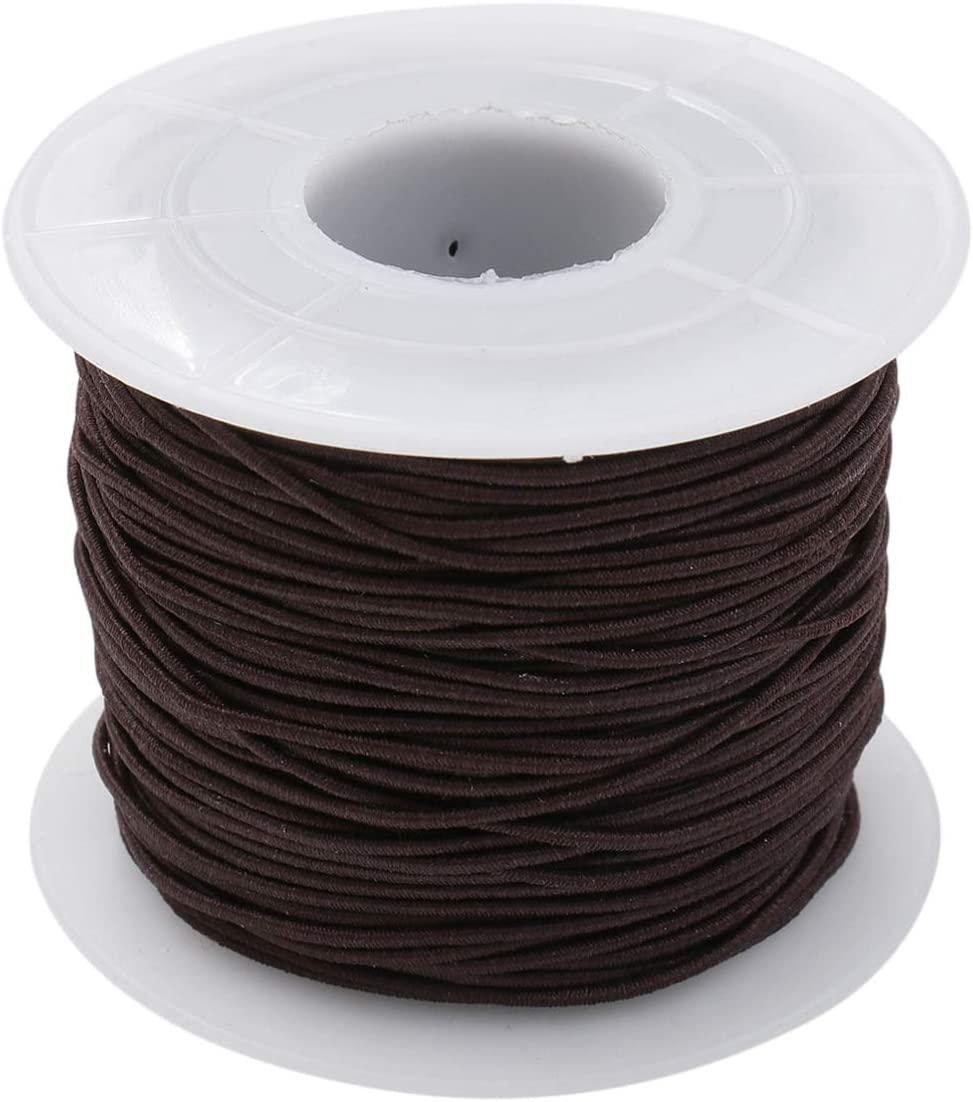 Happyyami 100M Elastic Cord Elastic Bands Elastic Rope Elastic String Heavy Stretch Elastic Spool Knit for Sewing