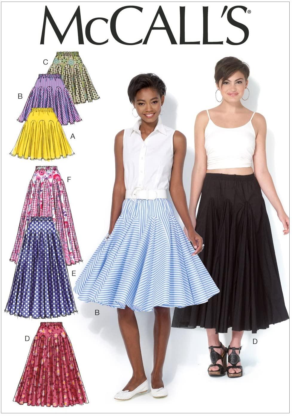 McCall Pattern Company M7097 Misses' Skirts, Size E5