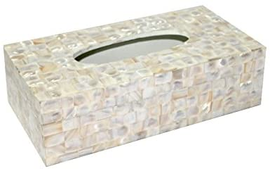 Opulent Homes Mother of Pearl Tissue Box 1053
