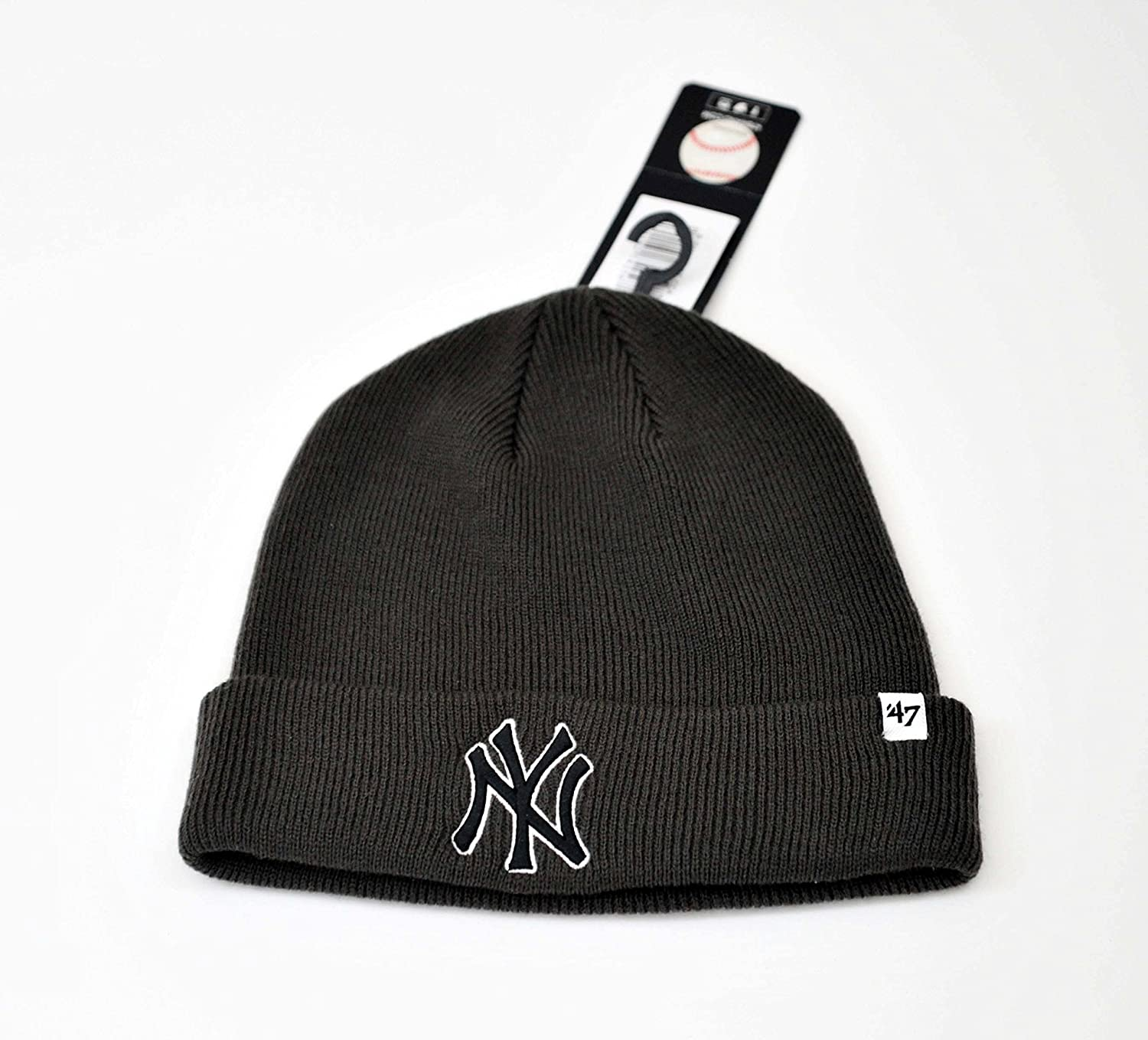 '47 MLB New York Yankees Brand Cuff Knit Hat Beanie - Charcoal Gray