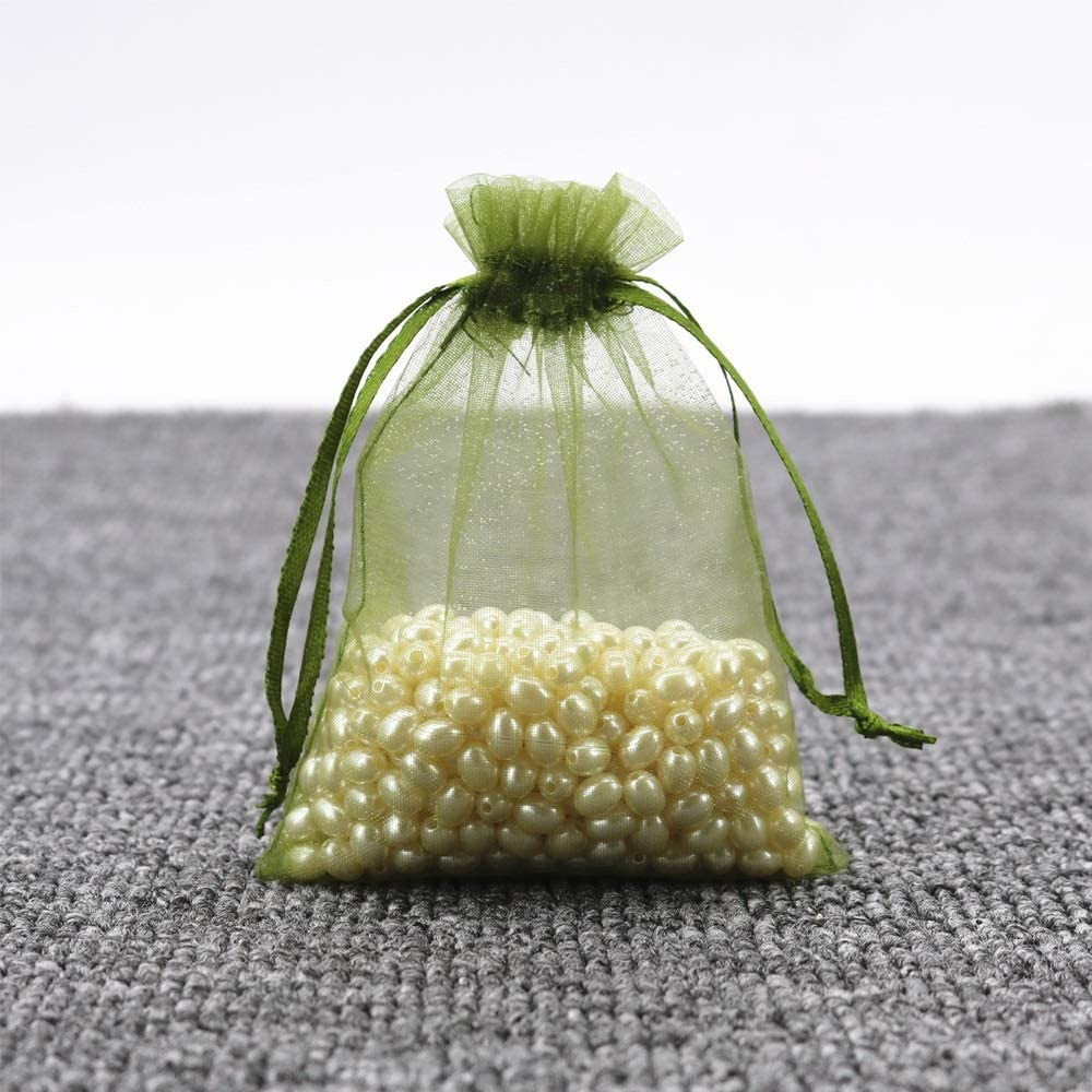 Xinneng Gift Bag - Gift Bag Exquisite Small Bag, Small Gift Bag, Sugar Lipstick Lipstick Gift Bag Small Beam Mouth, (50 Per Pack) Delicate (Color : Green, Size : 79cm)