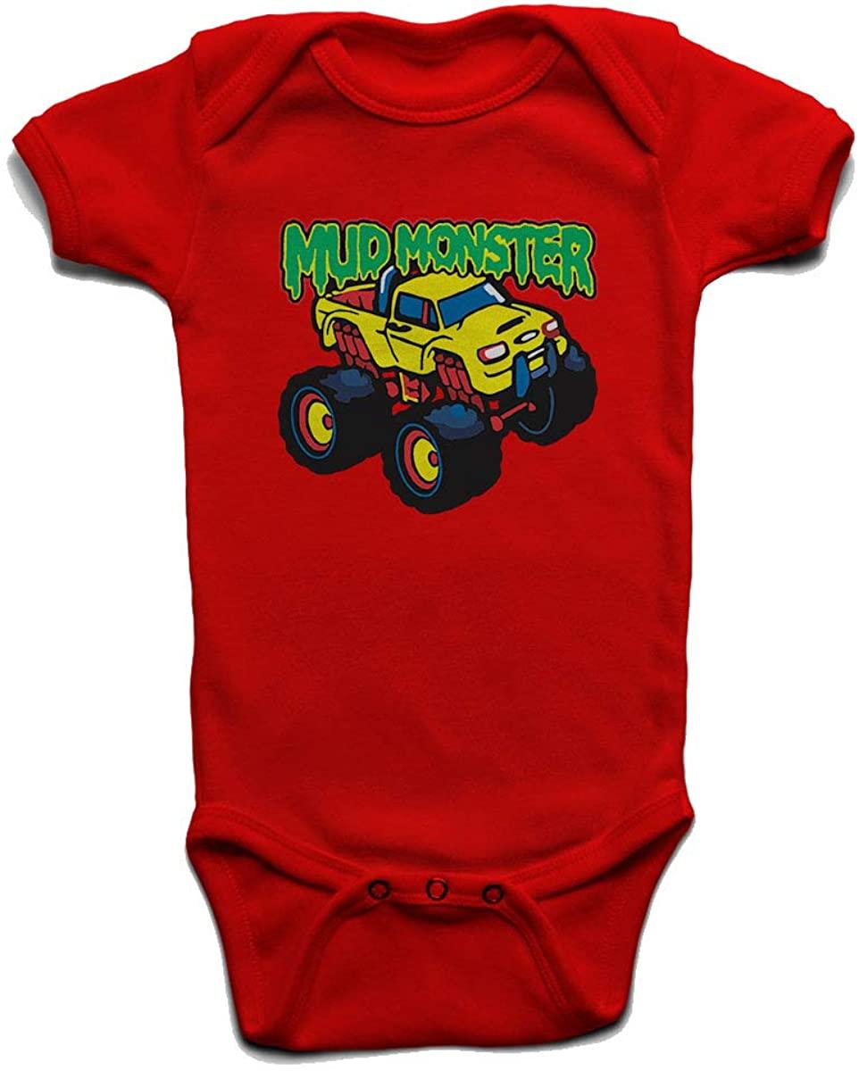 Custom Tshirts and Hats Mud Monster Baby Boys Girls Onesie