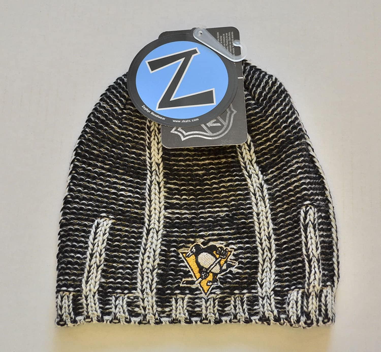Pittsburgh Penguins Black Frost Zephyr Skull Cap - NHL Cuffless
